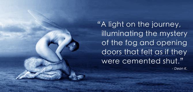 """A light on the journey, illuminating the mystery."""