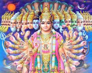 Vishnu: The ultimate multi-tasker.